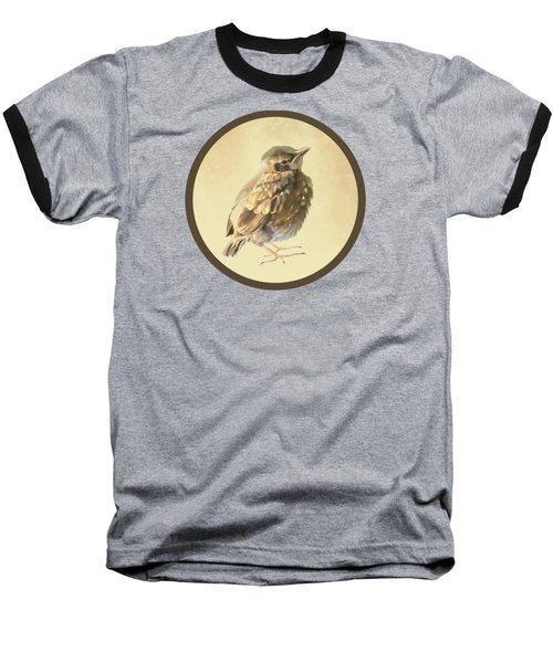 Blackbird Fledgeling Baseball T-Shirt by Bamalam  Photography
