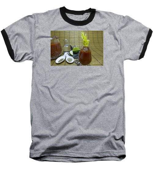 Bloody Mary Cocktail With Ingredients Baseball T-Shirt by Karen Foley