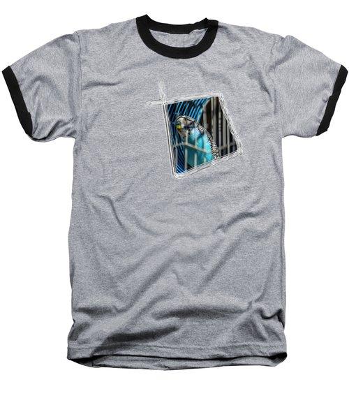 Blue Bird Baseball T-Shirt by Aissa Belbaz