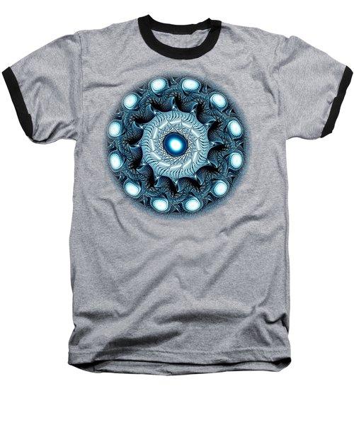 Blue Circle Baseball T-Shirt by Anastasiya Malakhova