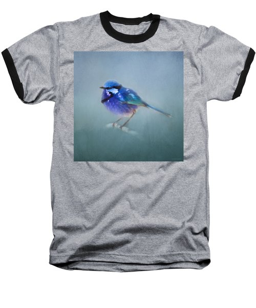 Blue Fairy Wren Baseball T-Shirt by Michelle Wrighton