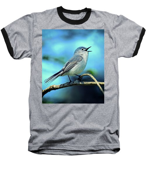 Baseball T-Shirt featuring the photograph Blue-gray Gnatcatcher by Rodney Campbell