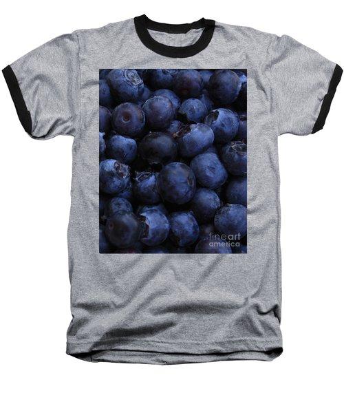 Blueberries Close-up - Vertical Baseball T-Shirt by Carol Groenen