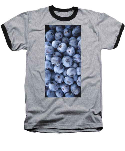 Blueberries Foodie Phone Case Baseball T-Shirt by Edward Fielding