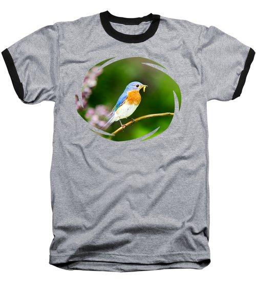 Bluebird Baseball T-Shirt by Christina Rollo