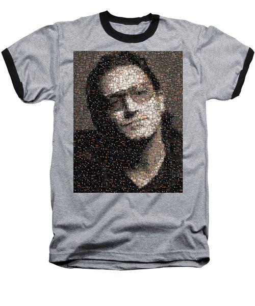 Bono U2 Albums Mosaic Baseball T-Shirt by Paul Van Scott