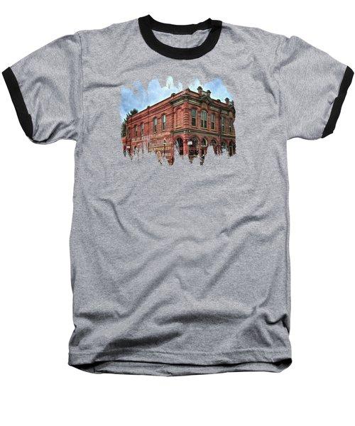 Boomtown Saloon Jacksonville Oregon Baseball T-Shirt by Thom Zehrfeld