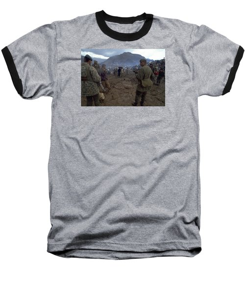 Baseball T-Shirt featuring the photograph Border Control by Travel Pics