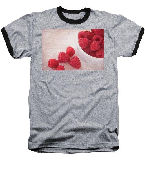 Bowl Of Red Raspberries Baseball T-Shirt by Cindi Ressler