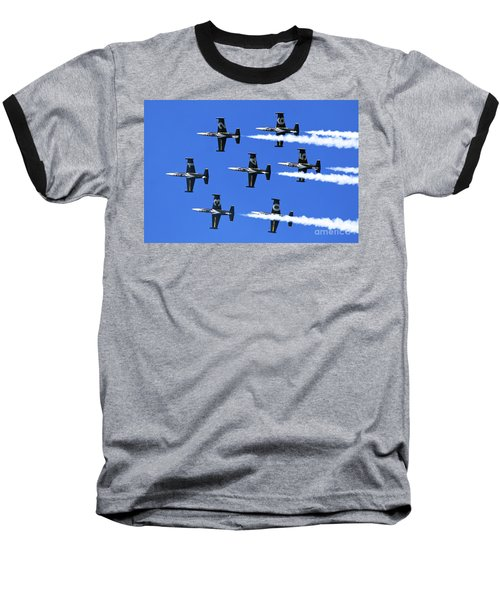 Breitling Air Display Team L-39 Albatross Baseball T-Shirt by Nir Ben-Yosef
