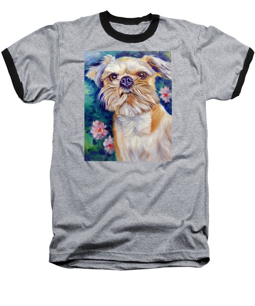 Brussels Griffon Baseball T-Shirt by Lyn Cook