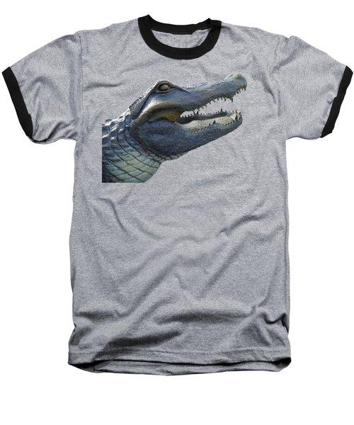 Bull Gator Portrait Transparent For T Shirts Baseball T-Shirt by D Hackett