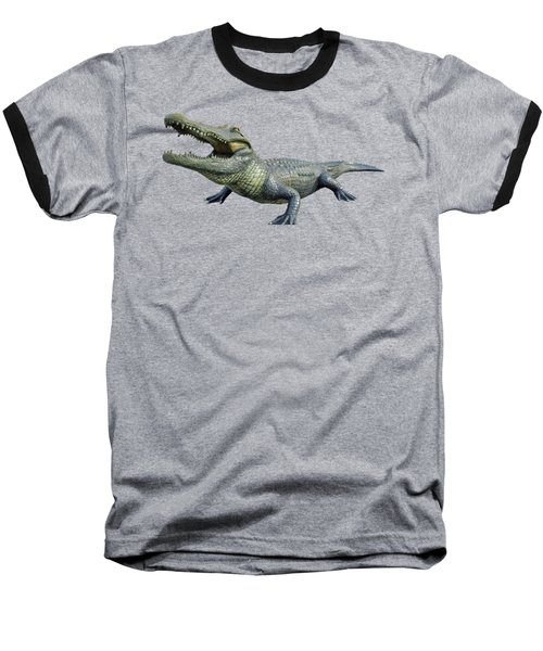 Bull Gator Transparent For T Shirts Baseball T-Shirt by D Hackett