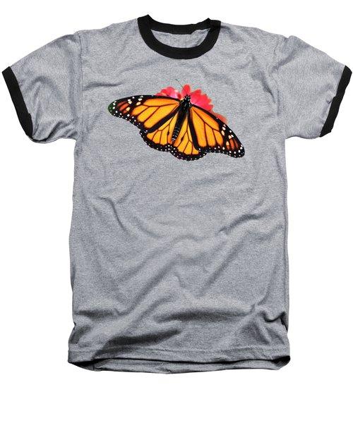 Butterfly Pattern Baseball T-Shirt by Christina Rollo