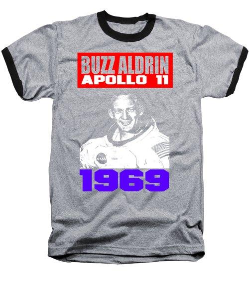 Buzz Aldrin Baseball T-Shirt by Otis Porritt