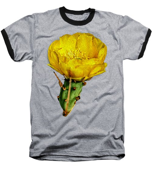Cactus Flower Op26 Baseball T-Shirt by Mark Myhaver
