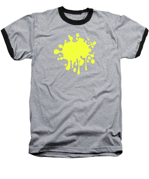 Canary Yellow Solid Color Decor Baseball T-Shirt by Garaga Designs
