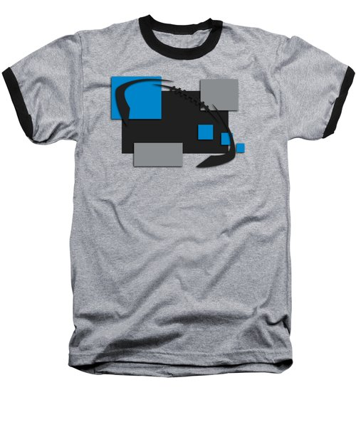 Carolina Panthers Abstract Shirt Baseball T-Shirt by Joe Hamilton