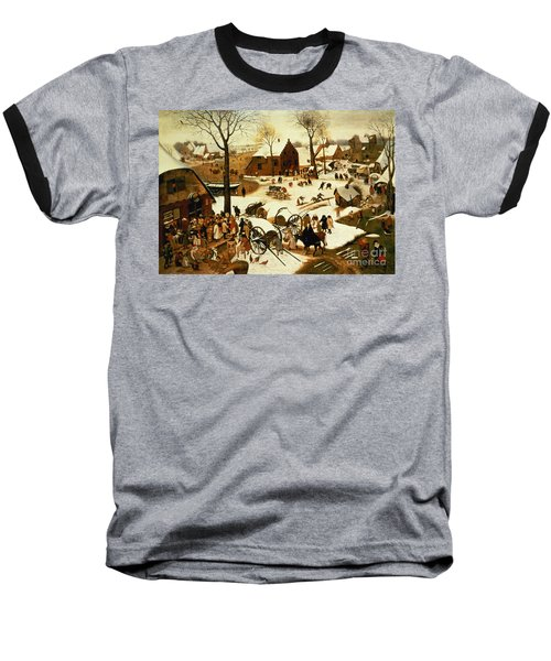 Census At Bethlehem Baseball T-Shirt by Pieter the Elder Bruegel