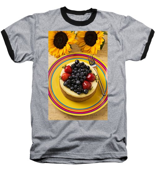 Cheesecake With Fruit Baseball T-Shirt by Garry Gay