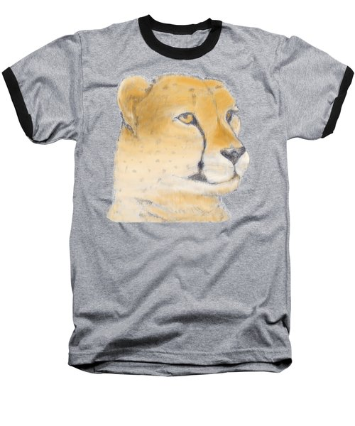 Cheetah 3 Baseball T-Shirt by Gilbert Pennison