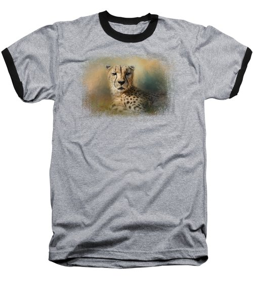 Cheetah Enjoying A Summer Day Baseball T-Shirt by Jai Johnson