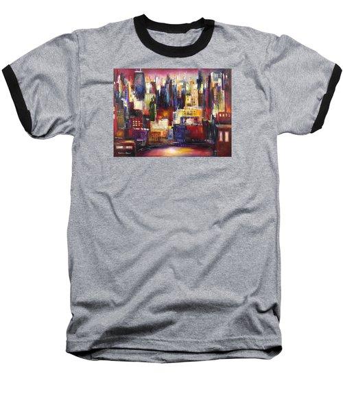 Chicago City View Baseball T-Shirt by Kathleen Patrick