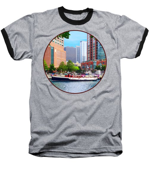 Chicago Il - Chicago River Near Centennial Fountain Baseball T-Shirt by Susan Savad