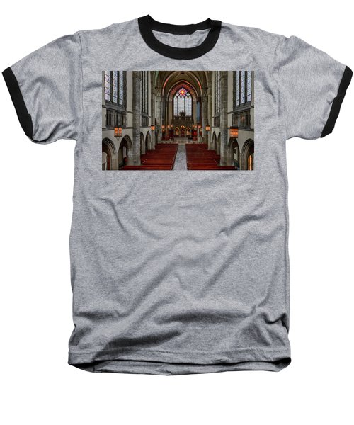 Chicago Rockefeller Chapel Baseball T-Shirt by Mike Burgquist