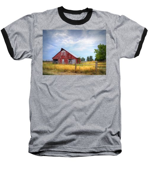 Christian School Road Barn Baseball T-Shirt by Cricket Hackmann