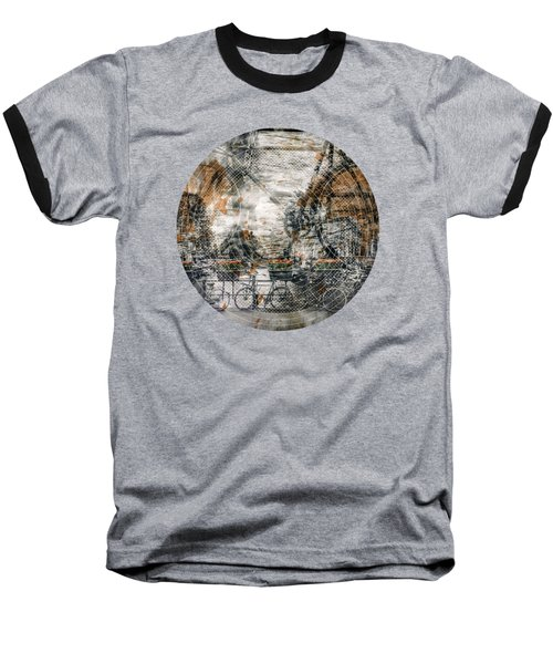 City-art Amsterdam Bicycles  Baseball T-Shirt by Melanie Viola