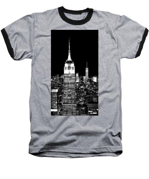 City Of The Night Baseball T-Shirt by Az Jackson