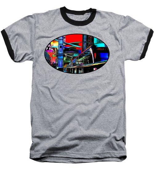 City Tansit Pop Art Baseball T-Shirt by Phyllis Denton