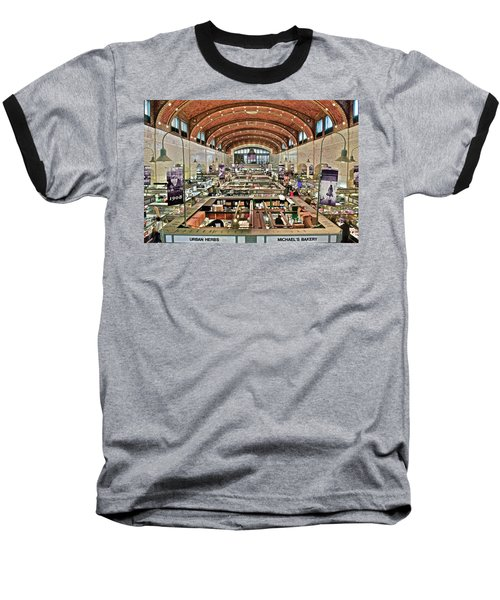 Classic Westside Market Baseball T-Shirt by Frozen in Time Fine Art Photography