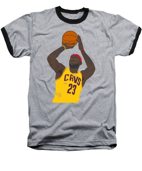 Cleveland Cavaliers - Lebron James - 2014 Baseball T-Shirt by Troy Arthur Graphics