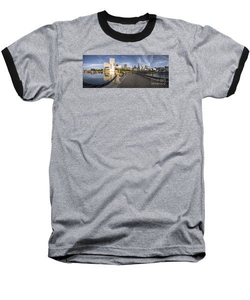Cleveland Panorama Baseball T-Shirt by James Dean