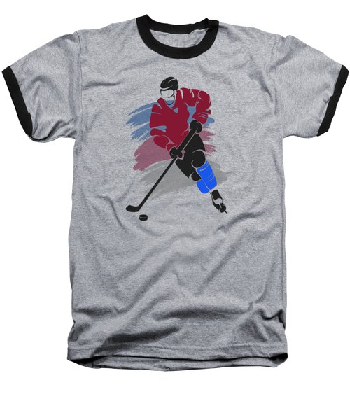 Colorado Avalanche Player Shirt Baseball T-Shirt by Joe Hamilton