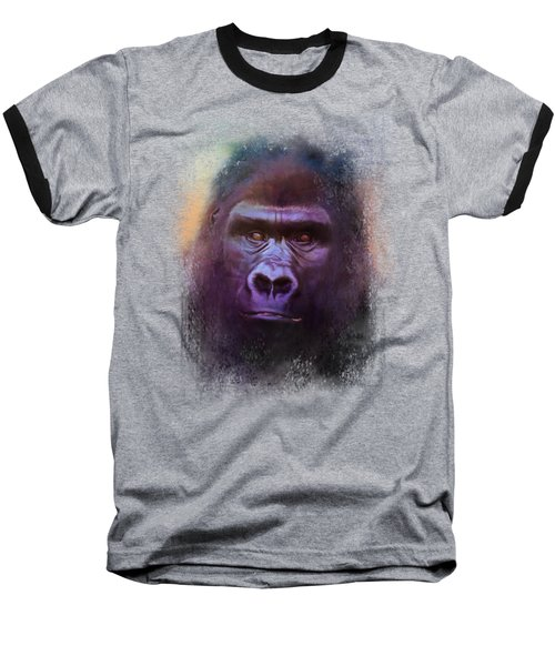 Colorful Expressions Gorilla Baseball T-Shirt by Jai Johnson