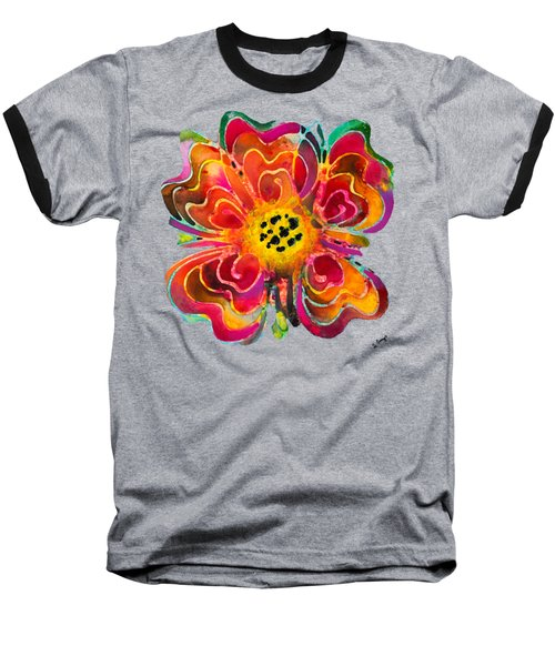Colorful Flower Art - Summer Love By Sharon Cummings Baseball T-Shirt by Sharon Cummings
