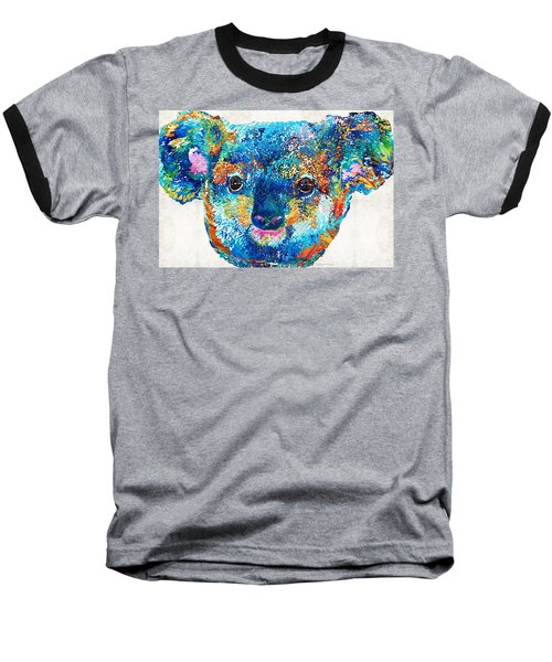 Colorful Koala Bear Art By Sharon Cummings Baseball T-Shirt by Sharon Cummings