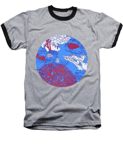 Coral Reef Baseball T-Shirt by Evgenia Chuvardina