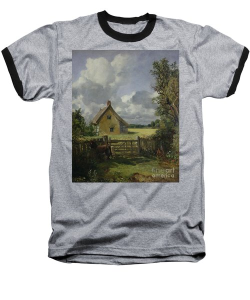 Cottage In A Cornfield Baseball T-Shirt by John Constable