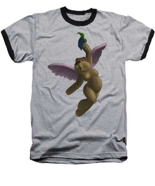 Cupid Bear 4 Baseball T-Shirt by Jason Sharpe