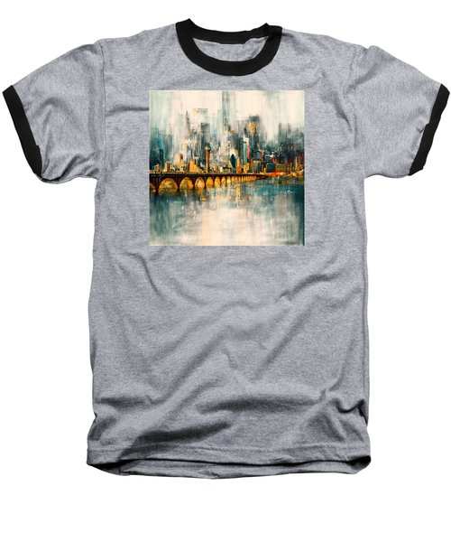 Dallas Skyline 217 3 Baseball T-Shirt by Mawra Tahreem