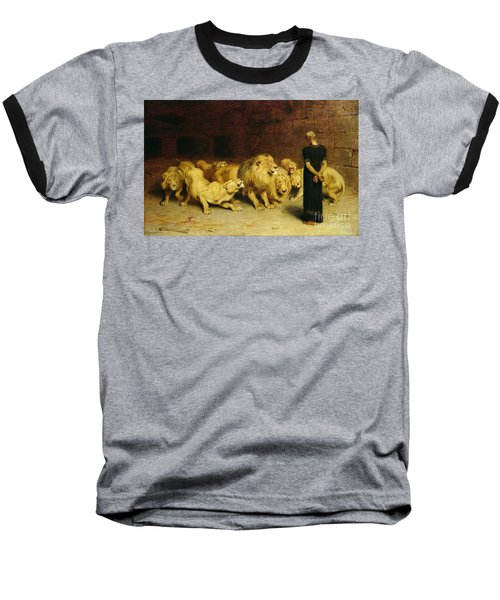 Daniel In The Lions Den Baseball T-Shirt by Briton Riviere