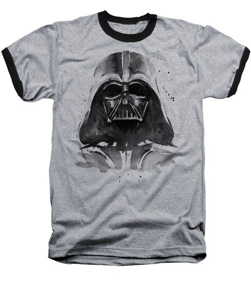 Darth Vader Watercolor Baseball T-Shirt by Olga Shvartsur
