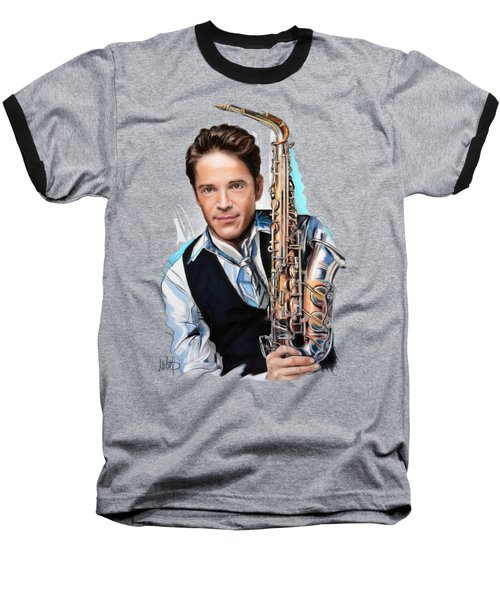 Dave Koz Baseball T-Shirt by Melanie D