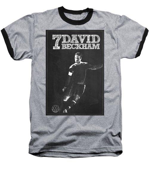 David Beckham Baseball T-Shirt by Semih Yurdabak
