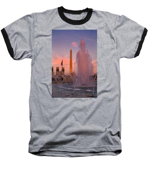 Dc Sunset Baseball T-Shirt by Betsy Knapp