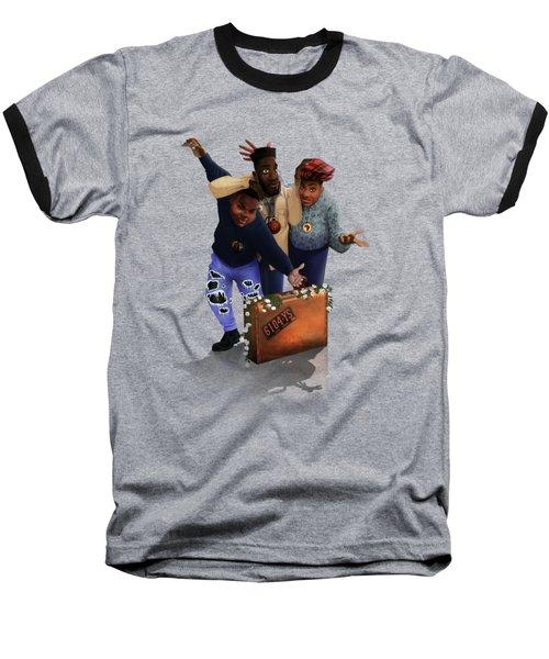 De La Soul Baseball T-Shirt by Nelson  Dedos Garcia